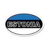Estonian Flag Oval Car Magnet