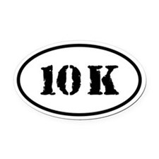 10 K Oval Car Magnet