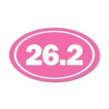 26.2 Oval Pink Oval Car Magnet
