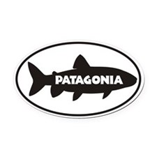 Oval Car Magnetagonia Trout Window Oval Car Magnet