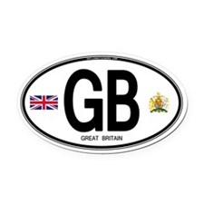 Great Britian (GB) Euro Oval Car Magnet (Oval)