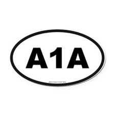 A 1 A Oval Car Magnet