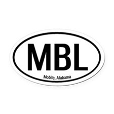 Mobile, Alabama Oval Car Magnet