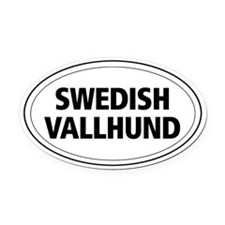 Swedish Vallhund Oval Car Magnet
