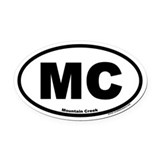 "Mountain Creek ""MC"" Oval Euro Oval Car Magnet"