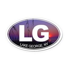 Lake George, New York - Oval Car Magnet