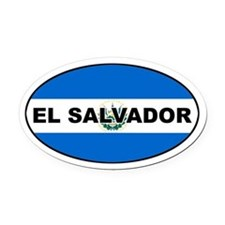 El Salvador Flag Oval Car Magnet