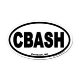 Calabash, North Carolina CBASH Oval Car Magnet