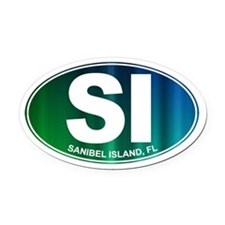 Sanibel Island, FL - Oval Car Magnet