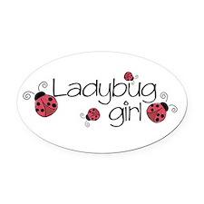 Ladybug girl Oval Car Magnet