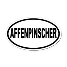 Affenpinscher Oval Car Magnet