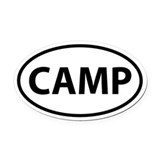 CAMP Oval Car Magnet