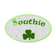 Southie Irish Oval Car Magnet