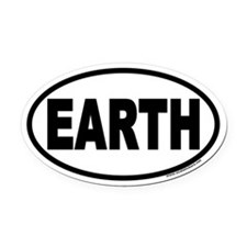 Earth Day EARTH Euro Oval Car Magnet