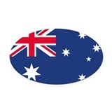 Australian Flag Oval Car Magnet