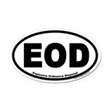 Explosive Ordnance Disposal EOD Oval Car Magnet