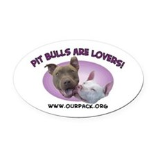 Cute Dogs Oval Car Magnet