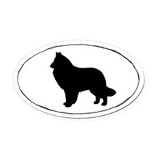 Belgian Sheepdog Oval Car Magnet
