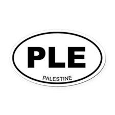 Palestine Oval Car Magnet