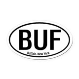 Buffalo, New York Oval Car Magnet