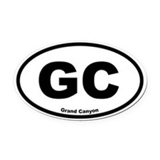 Grand Canyon Oval Car Magnet