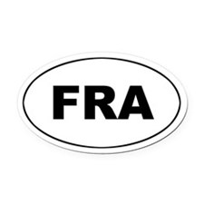 France / French (FRA_ Oval Car Magnet