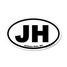 Jackson Hole, WY Oval Car Magnet (V4)