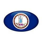Virginia Oval Car Magnet