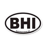 Bald Head Island BHI Euro Oval Car Magnet