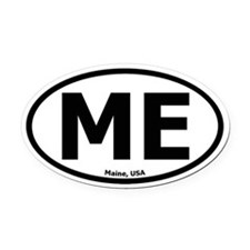 Maine Oval Car Magnet