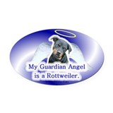 Cute Rottweiler items Oval Car Magnet