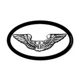 Pilot gear Oval Car Magnet