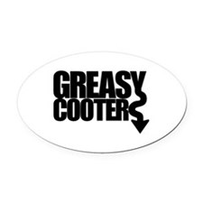 Greasy Cooter Oval Car Magnet