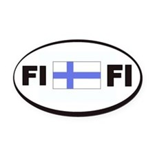 FI Flag Decal Oval Car Magnet