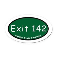 Exit 142 - I-78 - Newark / N Oval Car Magnet