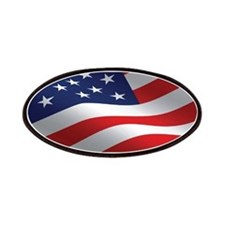 American Flag Oval Patches