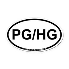 PG/HG Oval Car Magnet