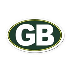 GB - Green Bay - Oval Car Magnet