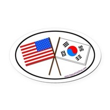 Oval Car Magnet USA/Korea