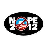 NOPE 2012 Oval Car Magnet