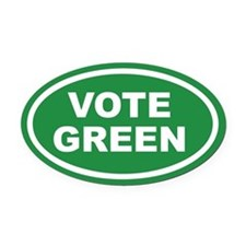 Vote Green Euro Oval Car Magnet