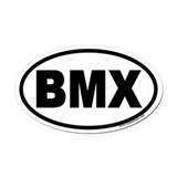 BMX Euro Oval Car Magnet