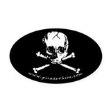 Pirate Skull Oval Car Magnet
