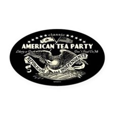Classic American Tea Party Oval Car Magnet