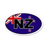 New Zealand (NZ) Flag Oval Car Magnet
