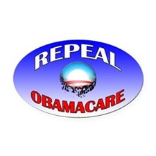 Repeal Obamacare Oval Car Magnet