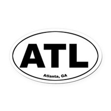 ATL (Atlanta, GA) Oval Car Magnet
