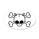 Cute Cat Oval Car Magnet