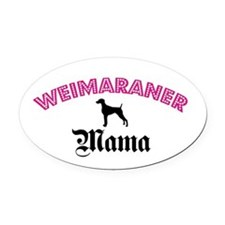 Weim Mama Oval Car Magnet