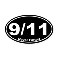 9 11 Never Forget Oval Car Magnet